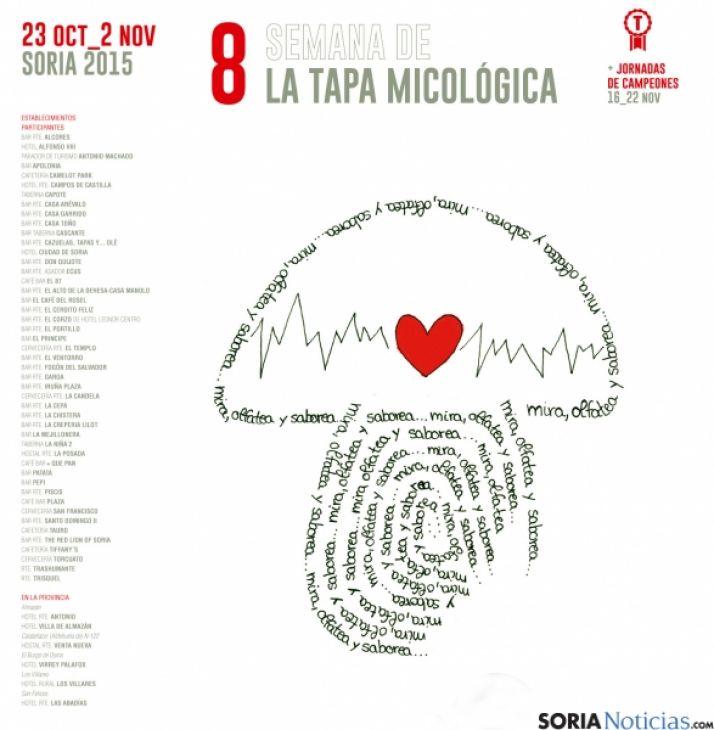 El cartel de la VIII Tapa Micológica.