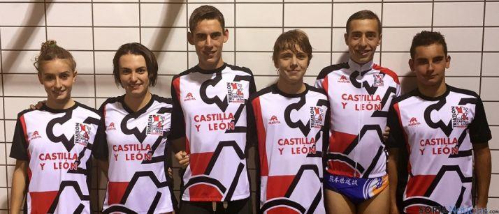 Los seleccionados regionales de triatlón.