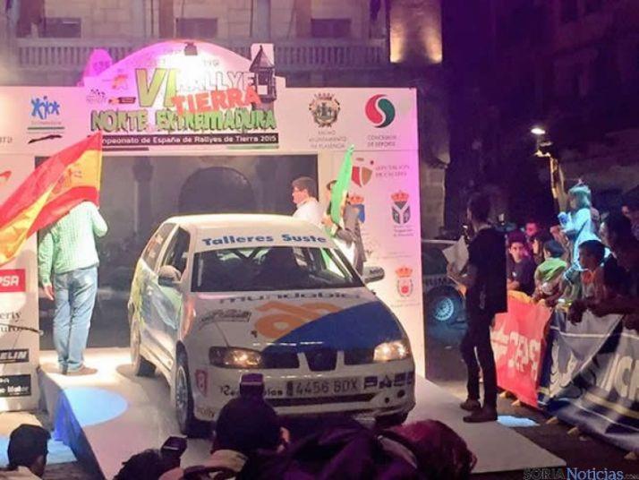 Agus en el Rally de Extremadura