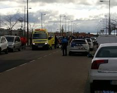 El operativo tras el accidente./SN