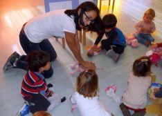 Niños de la escuela infantil de Camaretas.