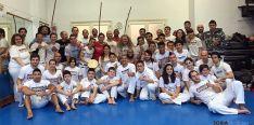Practicantes sorianos de capoeira./ABS