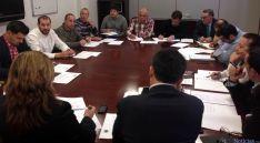 Reunión entre productores y la Diputación
