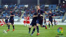 Los jugadores numantinos celebran el gol el empate. / SN