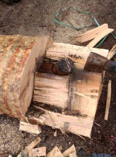 El artefacto antes de su extracción./SN