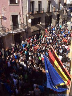 Estudiantes del IES Machado al mediodía./IES Machado