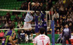 Una imagen del partido. /RFEVB