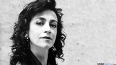 La cantante zaragozana, en Soria.