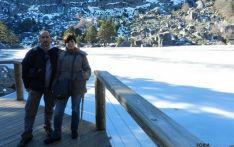 Turistas en La Laguna Negra