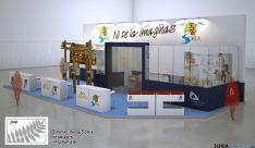 Recreación del stand con el que la Diputación acude a Intur./Dip.