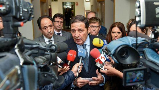 El consejero este miércoles en Soria. / SN
