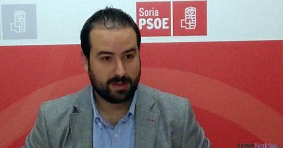 El procurador socialista Ángel Hernández este miércoles. / PSOE