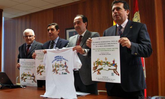Ruiz Liso, (izda.) Martínez Izquierdo, López Represa y Barrio Pérez, en la presentación del congreso. / SN