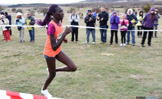 Masai encarando en Valonsadero su llegada a meta. / SN