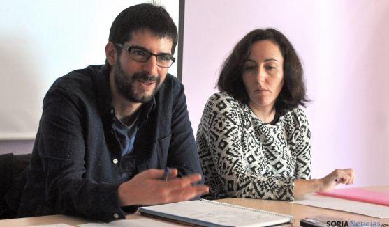 Ángel Alberto Flores y Ana Isabel García este lunes. / SN