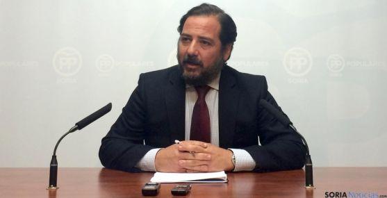 El concejal del PP, José Manuel Hernando este martes.