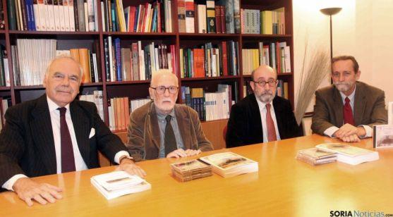 Benjumea, (izda.), Martínez de Pisón, Ortega, y Rodríguez-Ponga.