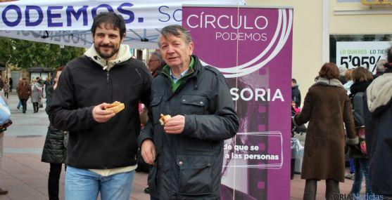 Jorge Ramiro, (izda.) y Carmelo Romero este domingo en Soria./SN