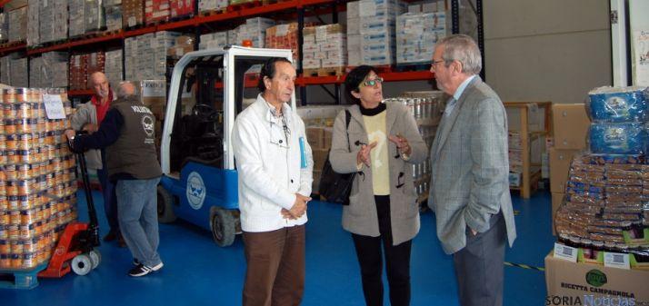 La diputada Pilar Delgado con responsables del BALSO.