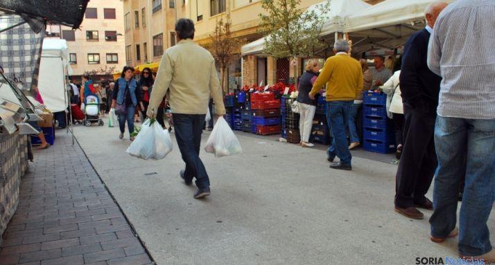 Una imagen del mercadillo en la capital./SN