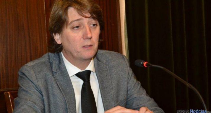 El alcalde de Soria, Carlos Martínez Mínguez en rueda de prensa. / SN