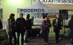Imagen del cierre de campaña en el centro de Soria. / SN