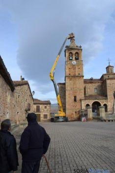 Retirada de nidos en la iglesia de El Royo