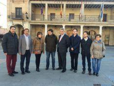 Representantes del PP soriano con Mañueco