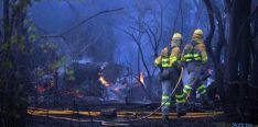 Labores de extinción de un incendio este verano en Soria. / SN