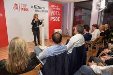 Imagen del mitin del PSOE este miércoles en Soria./SN
