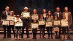 Los premiados del concurso de Caja Rural./SN