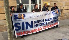 Miembros el SUP ante la Subdelegación./SN