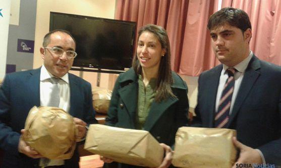 Rey, Iñigo y Martín, en la presentación de la campaña.