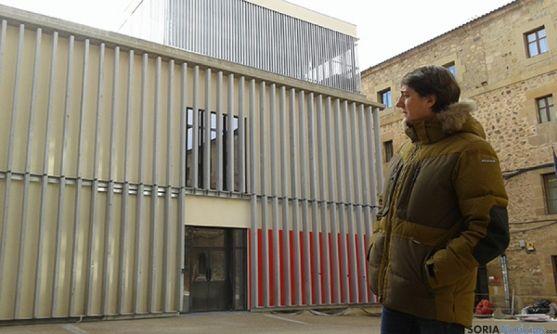 Martínez, en una visita al mercado de abastos.