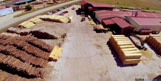 La planta de Amatex en Cabrejas del Pinar.