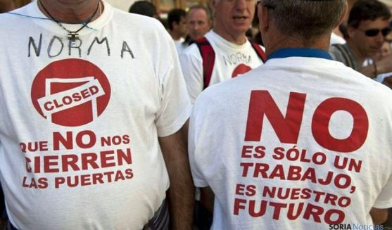 Camisetas reivindicativas durante las movilizaciones de los trabajadores.
