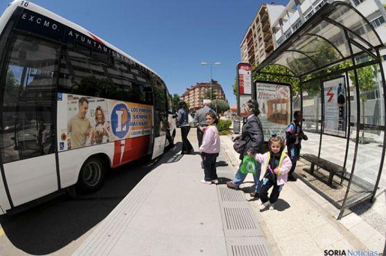 Imagen de un autobús urbano de Soria./SN
