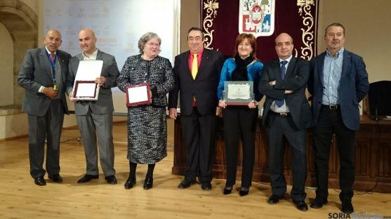Los galardonados, este martes en el Aula Magna Tirso de Molina.