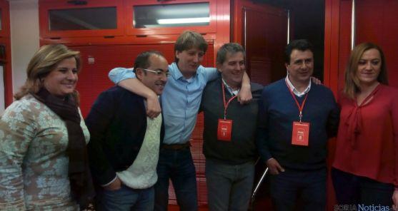 Los dirigentes del PSOE soriano tras los resultados del 20-D. / SN