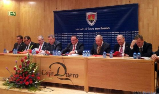 Asamblea general del CD Numancia este año. / SN