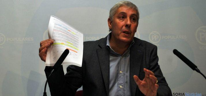 Alberto Rodríguez, del PP, este martes. / SN