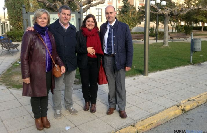 Alonso (dcha.), Aguilera, Antón e Irigoyen.