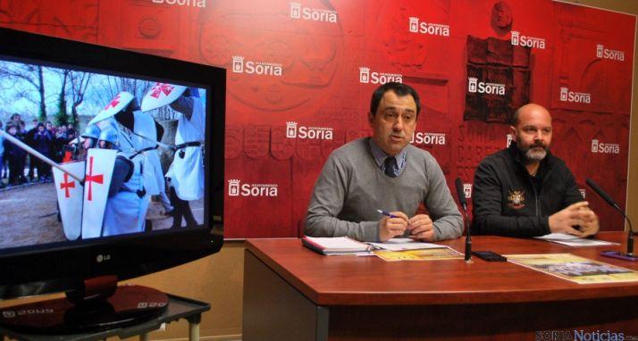 Javier Muñoz (izda.) y Rubén Marrón este jueves. / SN