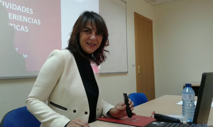 Ana Zapardiel, este martes en la Cámara./SN