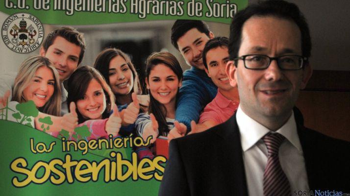 José Ángel Miguel, director de Agrarias, este viernes en el Campus. / SN