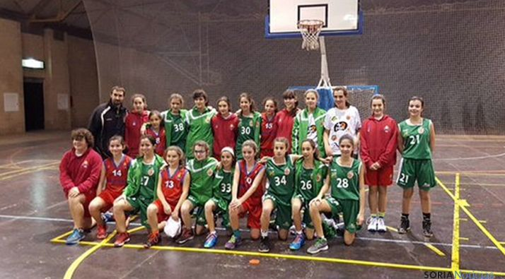 El equipo de basket soriano.