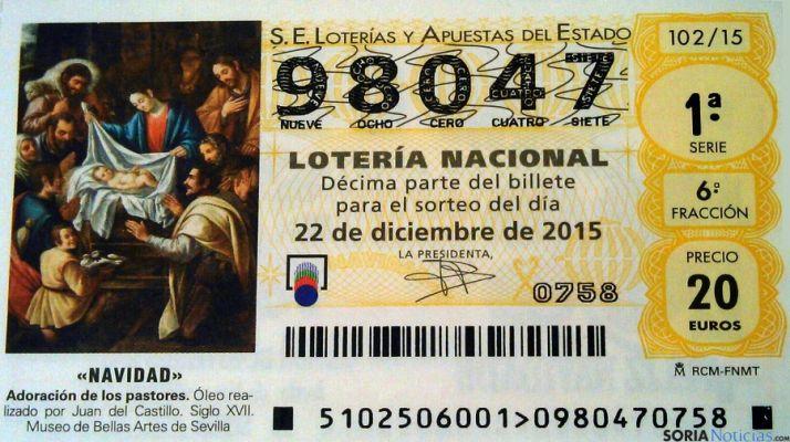 El número correcto de la lotería del San José.