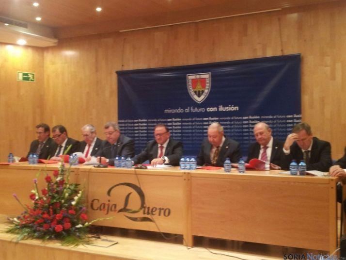 Asamblea del Numancia, presidida por Francisco Rubio