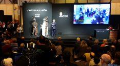 La presentación turística de Almazán en la Feria Internacional de Turismo en Madrid, este sábado. / Dip..