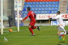Luis Valcarce, gol y lesión frente al Girona.